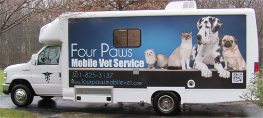 Four Paws Mobile Vet Truck